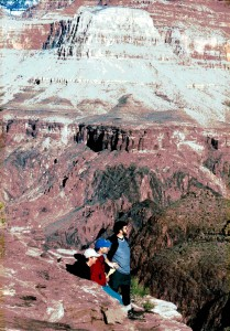 David , Perrin, and Norman in the Grand Canyon
