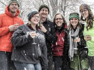 The David Bendroth clan toasting to his health