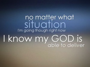 I know God is able
