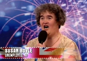 Susan Boyle's audition for Britain's Got Talent when she sang 'I dreamed a dream' from Les Misérables. Picture: Contributed